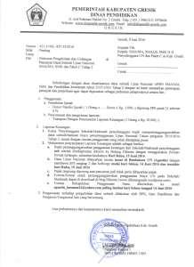 Undangan Pencairan dan Pelaporan Dana UN APBN Tahap 2